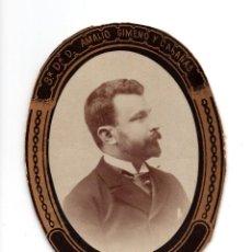 Fotografía antigua: ORLA. DOCTOR AMALIO GIMENO Y CABAÑAS. REAL ACADEMIA NACIONAL DE MEDICINA SILLÓN Nº 12. CARTAGENA. Lote 128283567