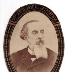 Fotografía antigua: ORLA. DR. JOSÉ DE LETAMENDI. REAL ACADEMIA NACIONAL DE MEDICINA (SILLÓN 41) BARCELONA. Lote 128288023