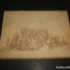 Fotografía antigua: SALAMANCA OLIVAN FOTOGRAFO RETRATO DE GRUPO DE LA FAMILIA LAMAMIE DE CLAIRAC. Lote 128567559