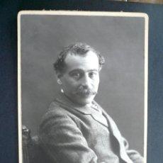 Fotografía antigua: ANTIGUA FOTOGRAFIA CABALLERO POSANDO EN ESTUDIO AUDOUARD. BARCELONA. 52. Lote 128619459