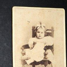 Fotografía antigua: ANTIGUA FOTOGRAFIA ALBUMINA 12 X 8 CTMS. ESTUDIO M. REY. MALAGA 34. Lote 128625991