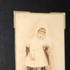 Fotografía antigua: ANTIGUA FOTOGRAFIA ALBUMINA 12 X 8 CTMS. ESTUDIO M. REY. MALAGA 37. Lote 128626059