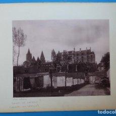 Fotografía antigua: LOCHES, TOURS, FRANCIA - EL CASTILLO Y PUENTE GRANDE - AÑOS 1900-1910. Lote 128639375