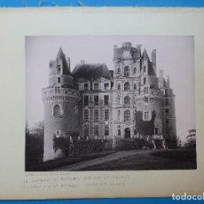 Fotografía antigua: BRISSAC, NANTES, FRANCIA - CASTILLO Y PASEO CAMBRONNE - AÑOS 1900-1910. Lote 128639743