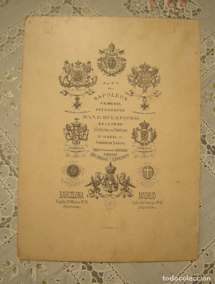 Fotografía antigua: ALBUMINA VAPOR CAMPEADOR. 12 DE MAYO 1895. PEGADA EN SOPORTE DE A Y E F DITS NAPOLEON. - Foto 2 - 128677671