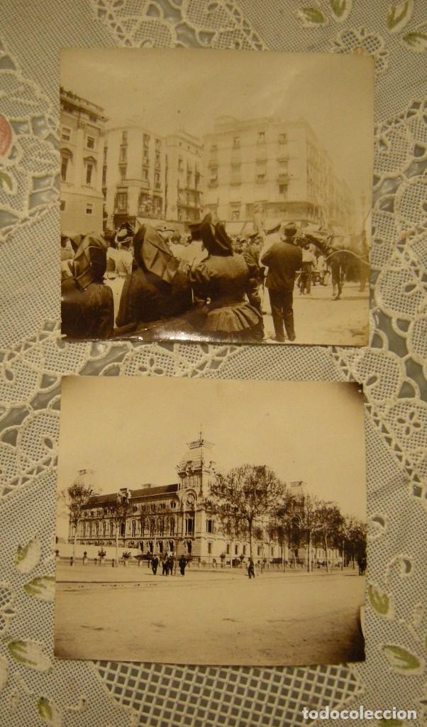2 ALBUMINAS. BARCELONA, PALACIO DE JUSTICIA Y PLAZA SAN JAIME. MEDIDAS DE CADA UNA 6,50 X 7,50 (Fotografía Antigua - Albúmina)