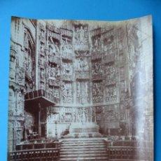 Fotografia antica: TOLEDO - 1375 LA CATHEDRALE. RETABLE DU MAITRE AUTEL - L. LEVY - AÑOS 1880-1890. Lote 128951091
