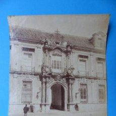 Fotografía antigua: SEVILLA - 312 FACHADA DEL PALACIO ARZOBISPAL. J.E. PUIG - AÑOS 1880-1890. Lote 128976815
