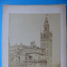 Fotografía antigua: SEVILLA - 77 LA GIRALDA, VUE DE L'ALCAZAR, L. LEVY - AÑOS 1880-1890. Lote 128990283