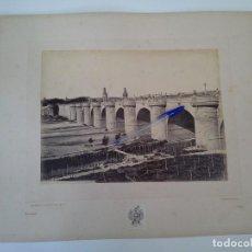 Fotografía antigua: MAGNIFICA ALBÚMINA J. LAURENT, MADRID 335, PUENTE DE TOLEDO.. Lote 129224235