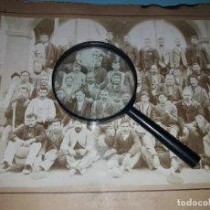 Fotografía antigua: FOTOGRAFÍA. TRABAJADORES DE FÁBRICA BARCELONA SIGLO XIX. Lote 129735023