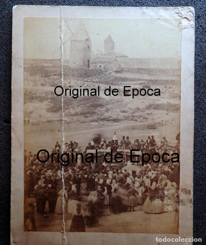 (JX-180811)FOTOGRAFÍA ALBUMINA DE UNA EJECUCIÓN CON GARROTE VIL.CASTILLA O EXTREMADURA.1860-1880 (Fotografía Antigua - Albúmina)