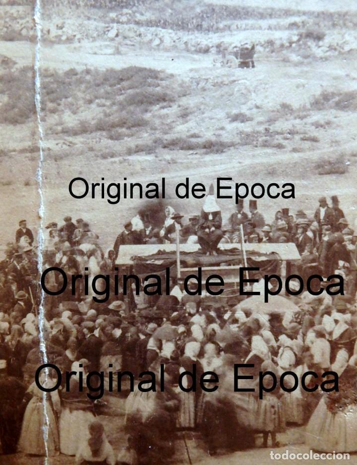 Fotografía antigua: (JX-180811)Fotografía albumina de una ejecución con garrote vil.CASTILLA O EXTREMADURA.1860-1880 - Foto 2 - 129969303