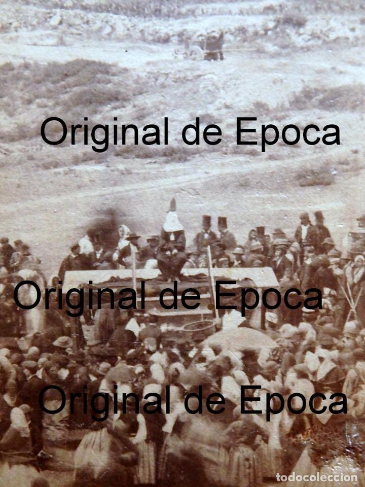 Fotografía antigua: (JX-180811)Fotografía albumina de una ejecución con garrote vil.CASTILLA O EXTREMADURA.1860-1880 - Foto 5 - 129969303
