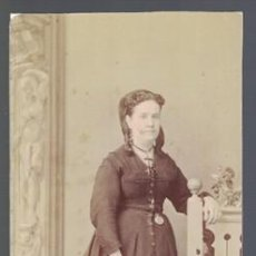 Fotografía antigua: FOTOGRAFIA DE SEÑORA. SOBRE 1880 - ALBUMINA-2475. Lote 129977075