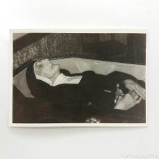 Fotografía antigua: MONJA, FOTOGRAFÍA POSTMORTEM, ALBÚMINA (AÑOS 70 FECHA NO DEFINIDA) 10,5CM×7,5CM. Lote 130246118