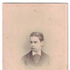 Fotografía antigua: FOTOGRAFIA DE JOVEN. FOTO H. LENTHALL (LONDRES). SIGLO XIX - ALBUMINA-2498. Lote 130322970
