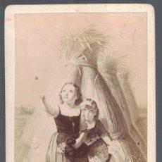 Fotografía antigua - FOTOGRAFIA NIÑAS. SOBRE 1880.. SOBRE 1880 - ALBUMINA-2541 - 130487022
