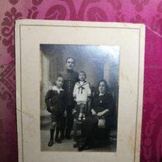 Fotografía antigua: ANTIGUA FOTOGRAFÍA. MILITAR Y FAMILIA. FOTÓGRAFO E.RODRÍGUEZ. TOLEDO. FOTO.. Lote 130540270
