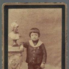 Fotografía antigua: FOTOGRAFIA NIÑA. SOBRE 1880 - ALBUMINA-2546. Lote 130676844