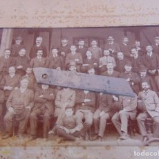 Fotografía antigua: FOTO FOTOGRAFIA ALBUMINA FERRO CARRILES ANDALUCES MALAGA 1907 FOTOGRAFO J. DAVID PARIS. Lote 130707384
