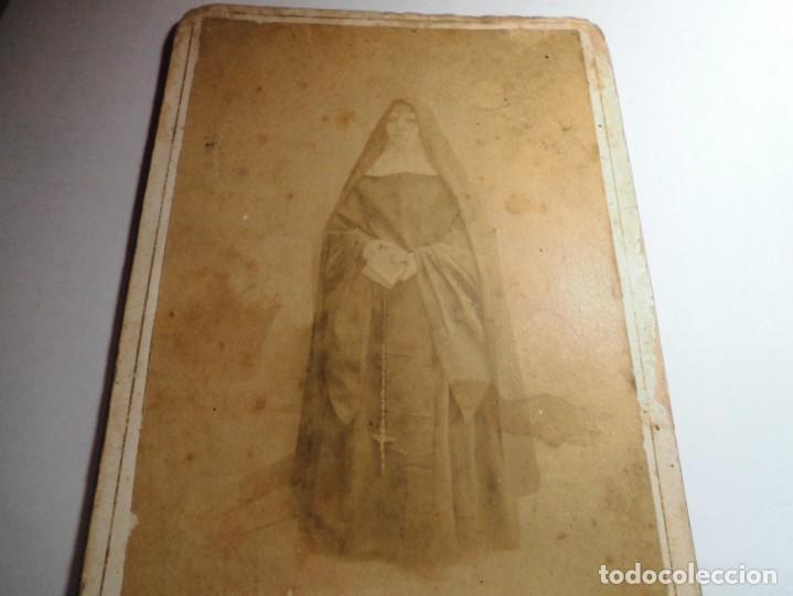 Fotografía antigua: magnifica fotografia del siglo XIX,de una monja,fotografo R.Gallego,castellon - Foto 2 - 131368326