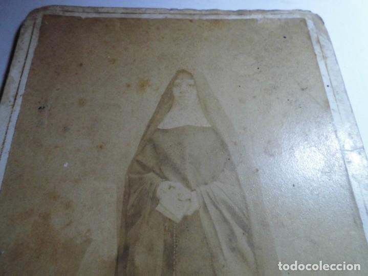 Fotografía antigua: magnifica fotografia del siglo XIX,de una monja,fotografo R.Gallego,castellon - Foto 3 - 131368326