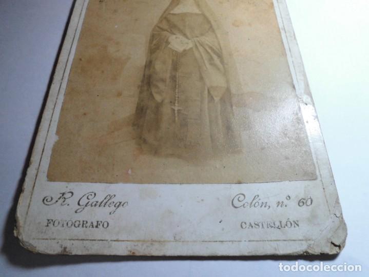 Fotografía antigua: magnifica fotografia del siglo XIX,de una monja,fotografo R.Gallego,castellon - Foto 4 - 131368326