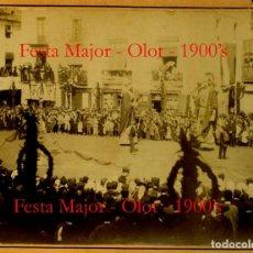 Fotografía antigua: OLOT - GEGANTS - FESTA MAJOR - 1900. Lote 132073950