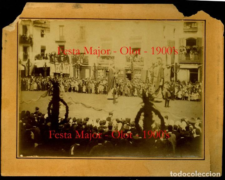 Fotografía antigua: OLOT - GEGANTS - FESTA MAJOR - 1900 - Foto 2 - 132073950