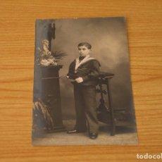 Fotografía antigua: ANTIGUA FOTOGRAFIA (ALREDEDOR DE 1900) - FOTO DE UN NIÑO (AUGUSTO DORCA GOMEZ) - 13,6X8,6 CM. Lote 132184498
