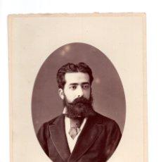 Fotografía antigua: FOTO CABINET - ESTUDIO FOTOGRÁFICO. ALVIACH Y COMPAÑIA MADRID. Lote 132237198