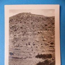 Fotografía antigua: CABRA DE MORA, TERUEL - LADERA IZQUIERDA BARRANCO DE LA TEJERIA, CLICHE Y FOTOGRAFIA - AÑOS 1920-30. Lote 132410814