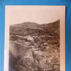 Fotografía antigua: TERUEL - UNION DEL RIO CASTELLAR CON EL BARRANCO PIEDRA DEL SOL, CLICHE Y FOTOGRAFIA - AÑOS 1920-30. Lote 132411122
