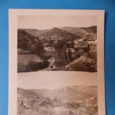 Fotografía antigua: FORMICHE ALTO, TERUEL - PUENTE SOBRE EL RIO DE CEDRILLAS, CLICHE Y FOTOGRAFIA - AÑOS 1920-30. Lote 132411810