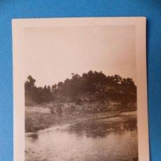 Fotografía antigua: RIO DE CASTELLAR CON EL BARRANCO DE MONTORO, TERUEL - CLICHE Y FOTOGRAFIA - AÑOS 1920-30. Lote 132413666