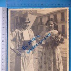 Fotografía antigua: VALENCIA - FALLAS, FALLERO Y FALLERA - AÑOS 1930-40. Lote 132414738