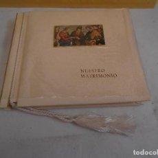 Fotografía antigua: ALBUM PARA FOTOGRAFIAS DE BODA ANTIGUO - NUESTRO MATRIMONIO 1951. Lote 132595762
