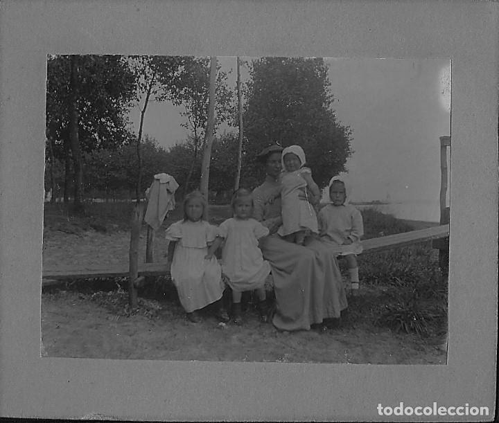 ANTIGUA FOTOGRAFÍA FAMILIAR 1901 (Fotografía Antigua - Albúmina)