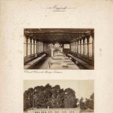 Fotografía antigua: ALBÚMINA.- VISTAS DE OXFORD.(REINO UNIDO ).- MEDIDAS CON PASPARTÚ A 30 X 38 CM. Lote 132917446