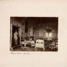 Fotografía antigua: ALBÚMINA.- VISTA INTERIOR CASTILLO BELVOIR (REINO UNIDO ).- MEDIDAS CON PASPARTÚ A 30 X 38 CM. Lote 179328270