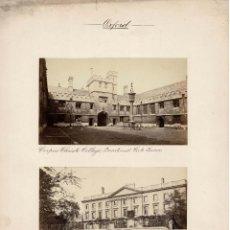 Fotografía antigua: ALBÚMINA.- VISTAS DE OXFORD.(REINO UNIDO ).- MEDIDAS CON PASPARTÚ A 30 X 38 CM. Lote 132920258