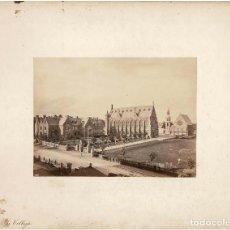 Fotografía antigua: ALBÚMINA.- VISTAS DE CLIFTON COLLEGE. COLEGIO.( REINO UNIDO ).- MEDIDAS CON PASPARTÚ A 30 X 38 CM. Lote 132923518
