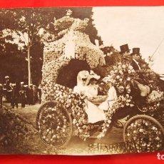 Fotografía antigua: ALBUMINA CARROZA 4º PREMIO DE LA BATALLA DE FLORES DEL RETIRO AÑO 1906. Lote 133552386