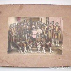 Fotografía antigua: ANTIGUA FOTOGRAFÍA ALBÚMINA DE GRUPO DE NIÑAS. PRINCIPIOS DEL SIGLO XX . Lote 134445650