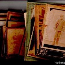 Fotografía antigua: LOTE DE 30 FOTOGRAFIAS DE ALBUMINA. RETRATOS DE ESTUDIO. VER FOTOS.. Lote 134533382