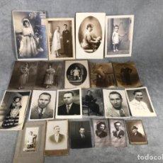 Fotografía antigua: LOTE X 21 FOTOGRAFÍAS AÑOS 10,20 Y 30. Lote 134851390