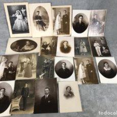 Fotografía antigua: LOTE X 20 FOTOGRAFÍAS AÑOS 10,20 Y 30. Lote 134851626