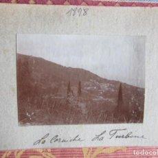 Fotografía antigua: 1901- TURBINE. ITALIA. GIBRALTAR. 2 FOTOS ORIGINALES. Lote 134892030