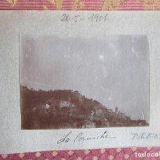 Fotografía antigua: 1901- CALLE DE GENOVA. TURBINE. ITALIA. 2 FOTOS ORIGINALES. Lote 134892910
